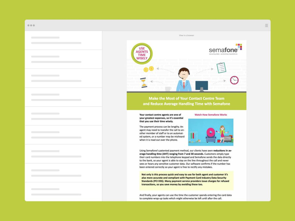 Semafone Email Template